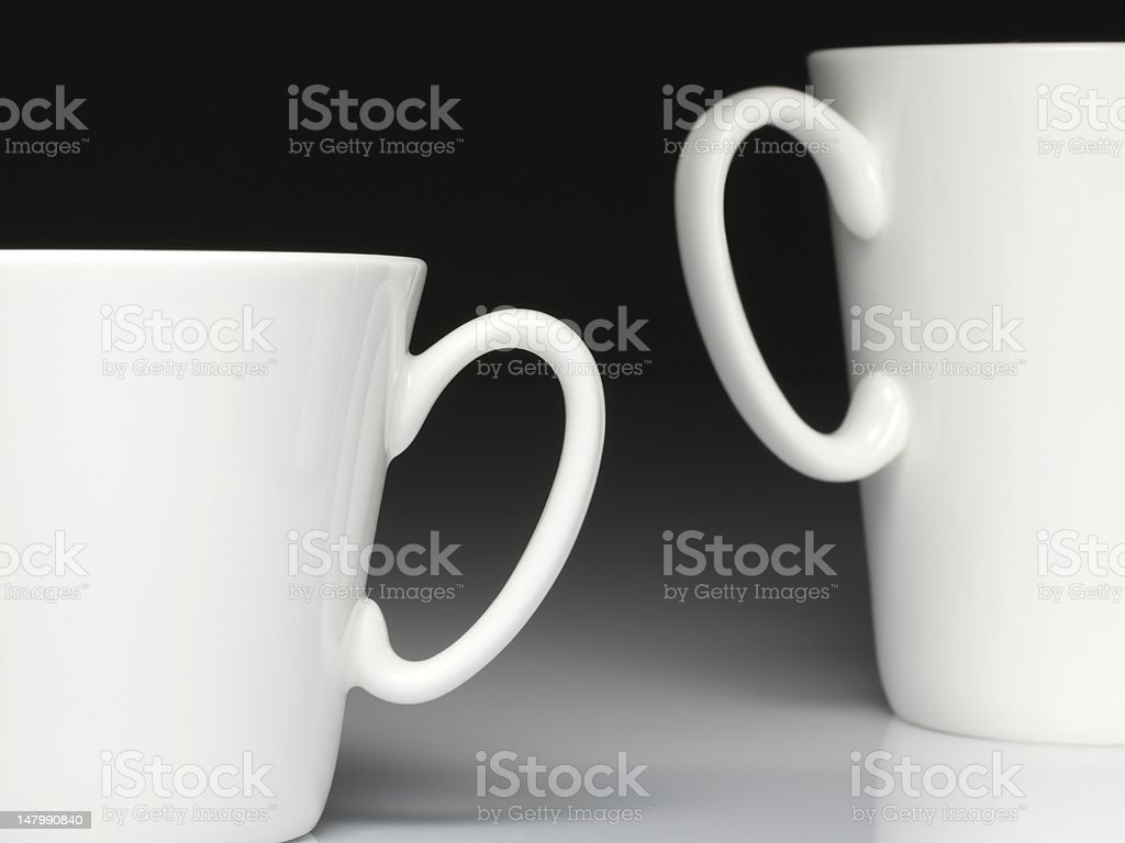 Ear-handled coffee cup royalty-free stock photo