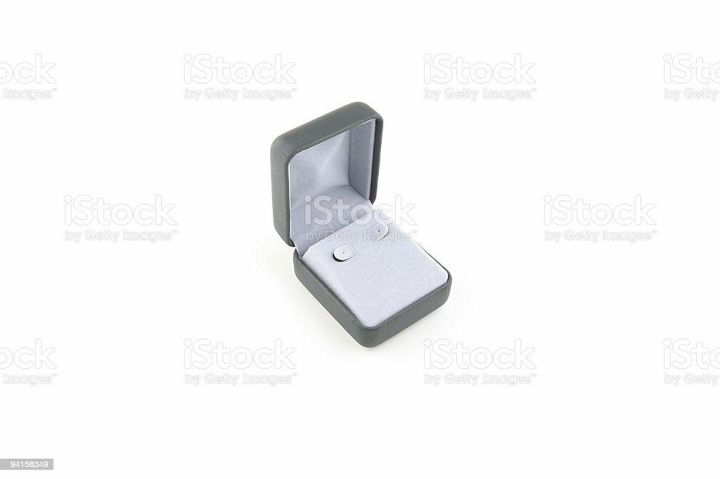 Earings Gift Box royalty-free stock photo