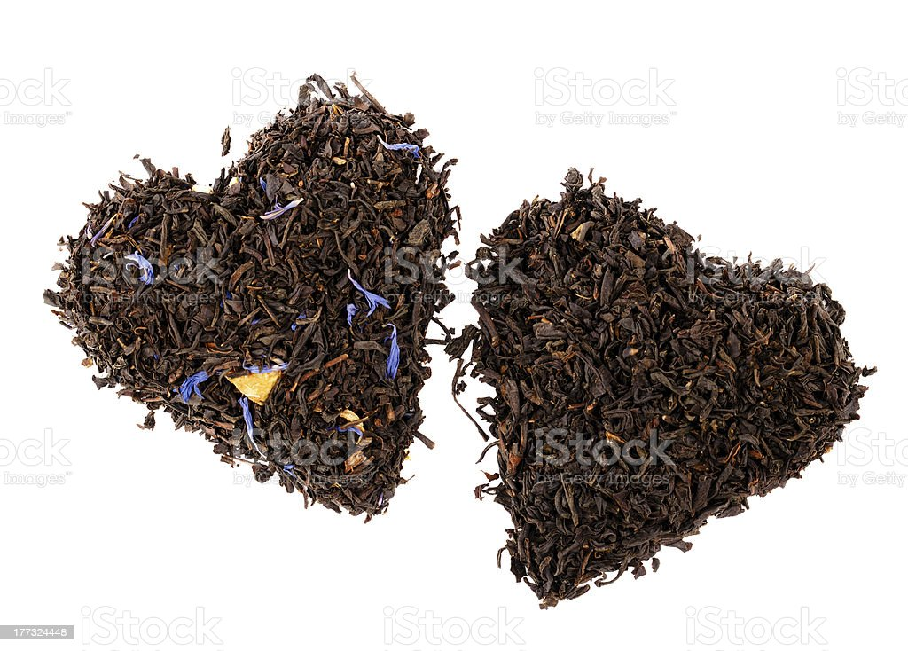 Earl  and Lady Grey black loose tea leaves stock photo
