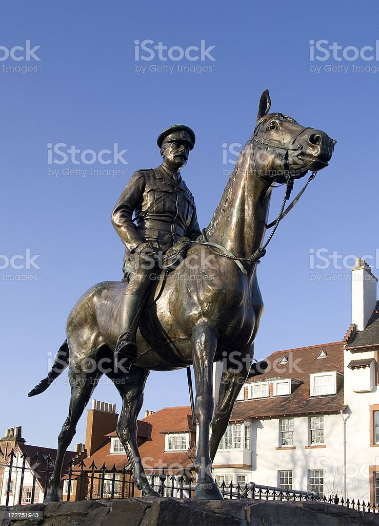 'Earl Douglas Haig, statue' stock photo