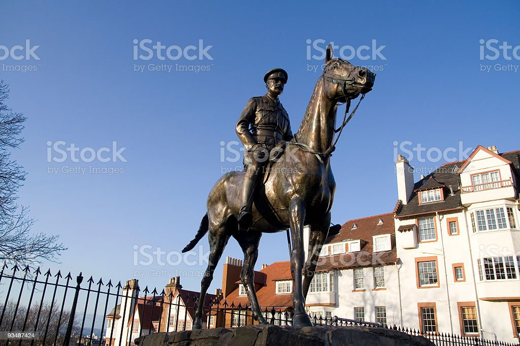 Earl Douglas Haig, statue stock photo