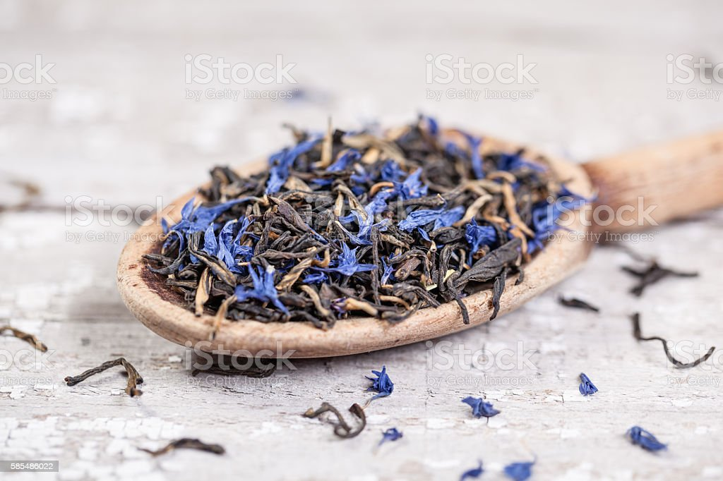 Earl Gray Tea Leaves stock photo