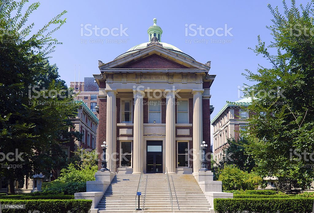 Earl Hall at Columbia University in the New York City royalty-free stock photo