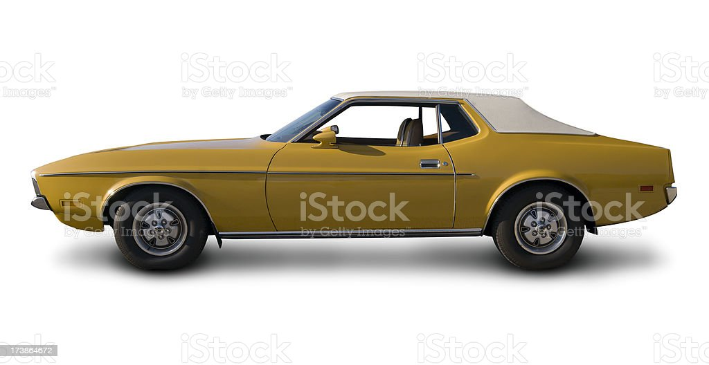 Early 1970's Ford Mustang stock photo