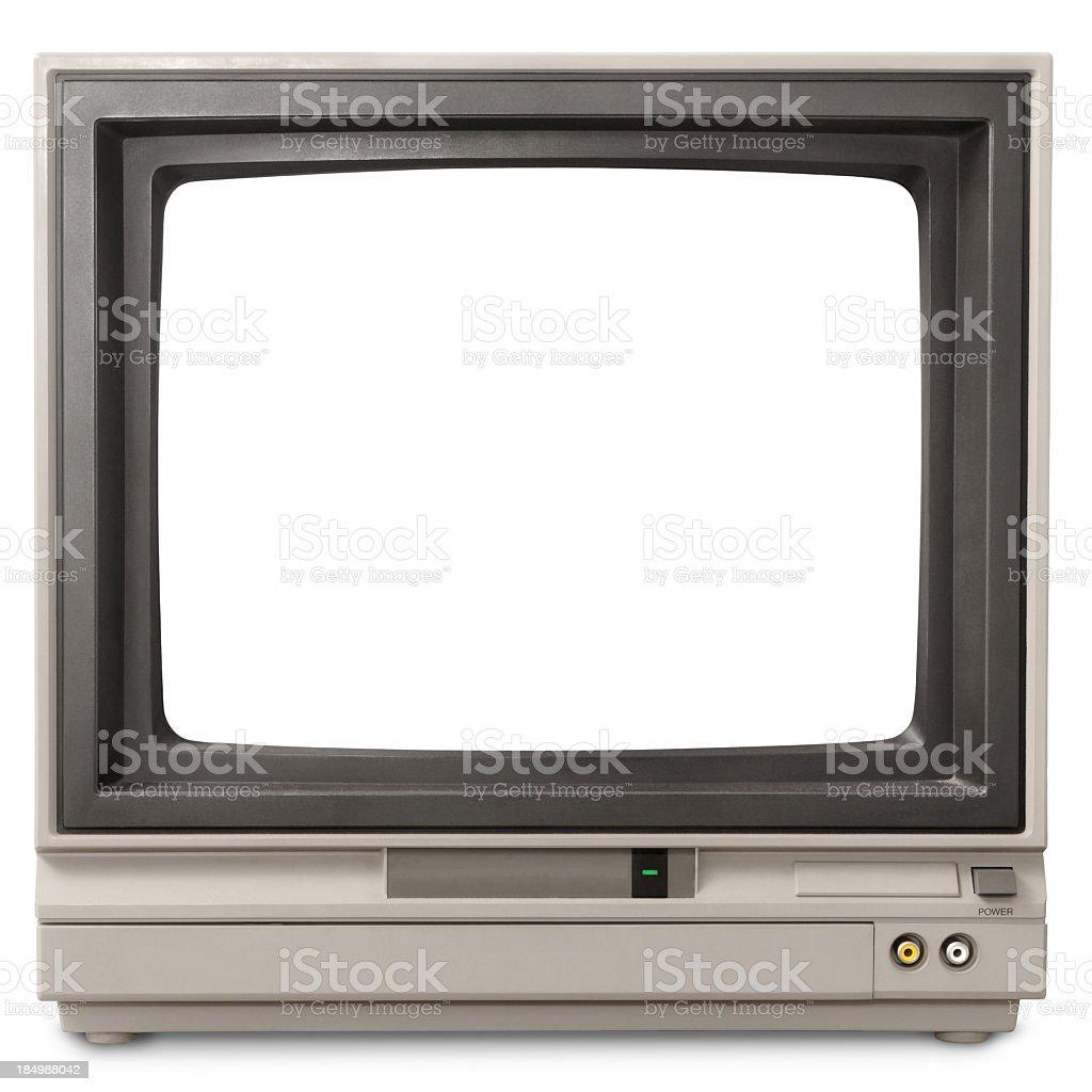 Early 1980s blank computer screen looks like early TV set stock photo