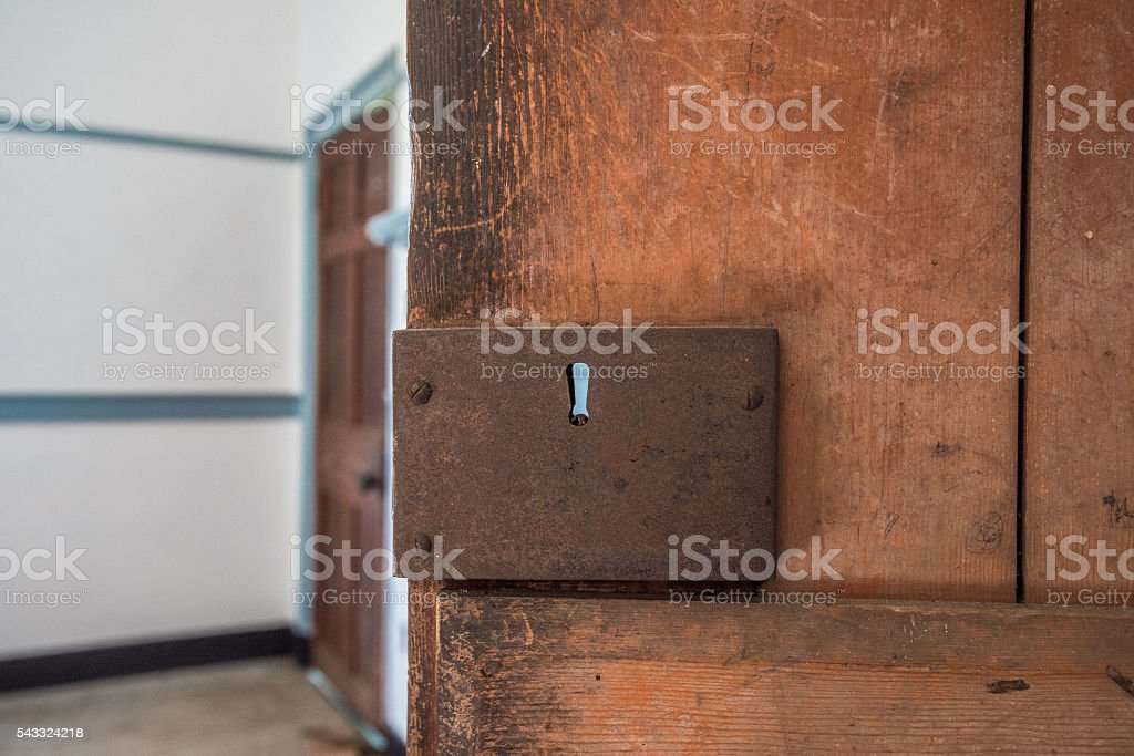 Early American Farm House Interior stock photo