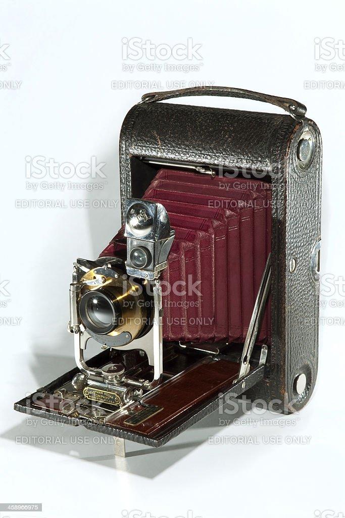 Early Antique Folding Pocket Kodak Camera royalty-free stock photo