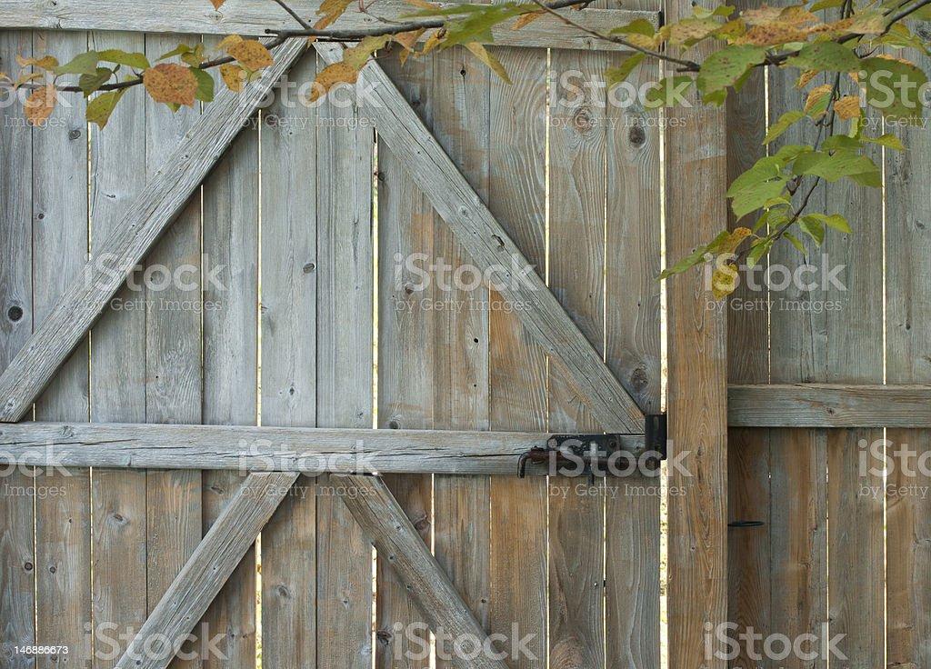 O início do outono muro Gate foto royalty-free