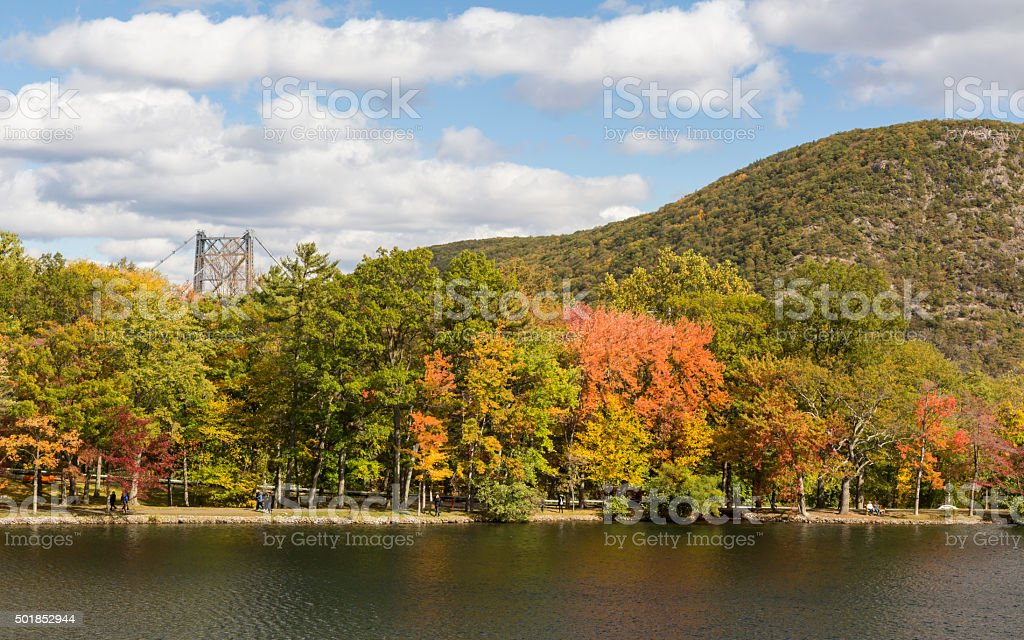Early Autumn on Hessian Lake stock photo