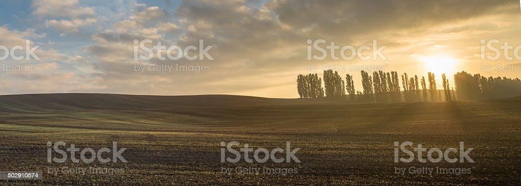 Early Autumn Sunrise stock photo