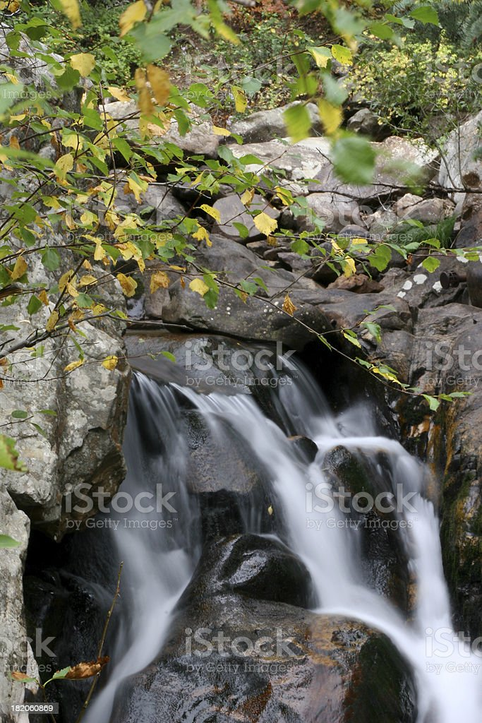 Early Autumn Waterfall stock photo