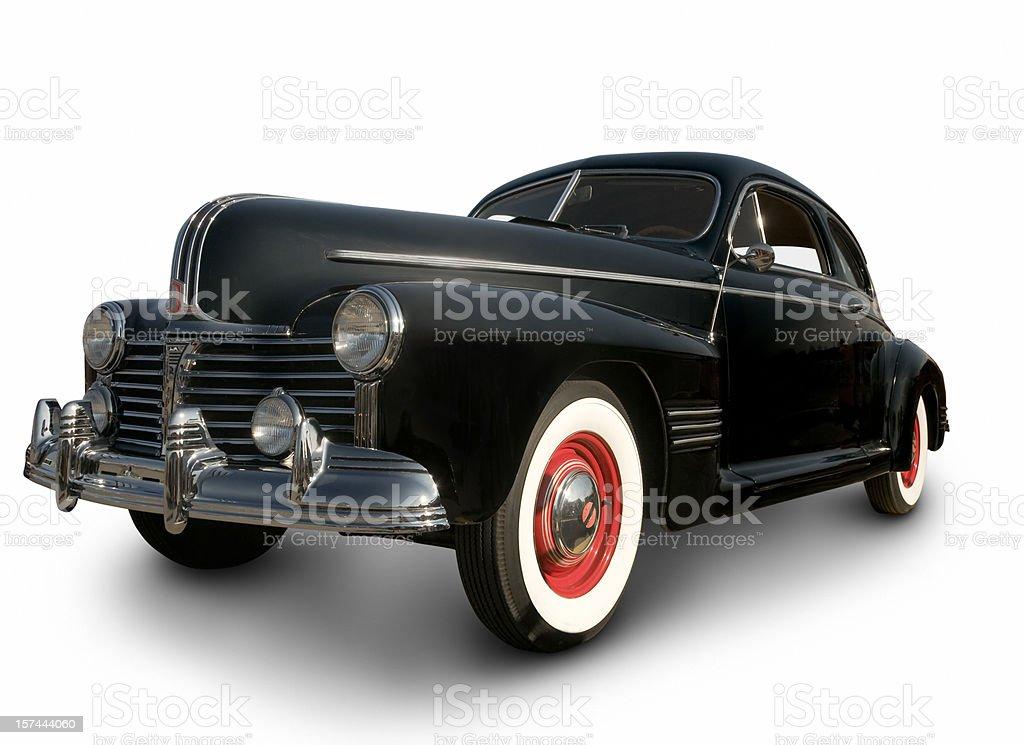 Early Black Pontiac Coupe stock photo