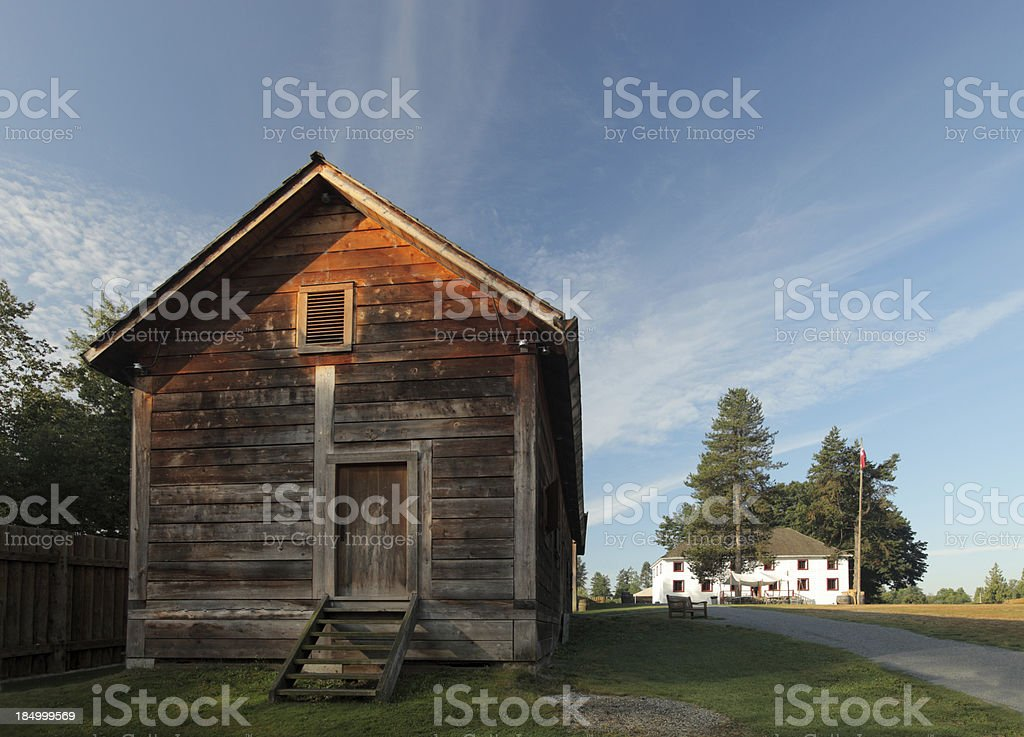 Early Canadian Architecture stock photo