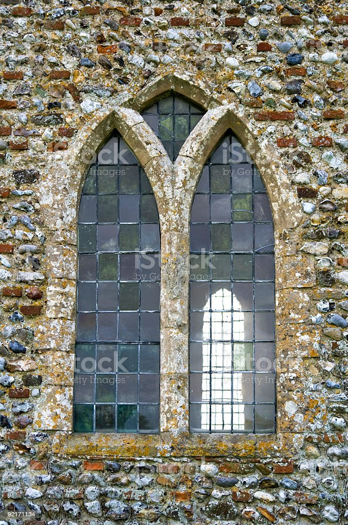 Early English church window stock photo
