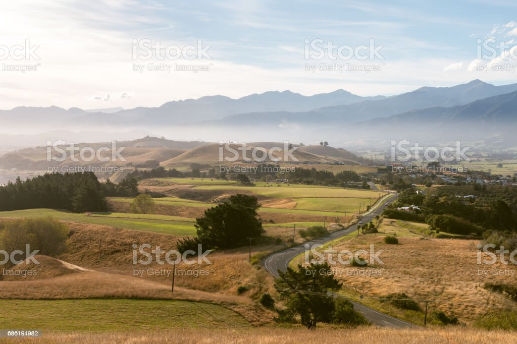 Early evening in Kaikoura stock photo