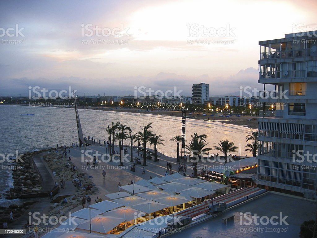 Early Evening in Salou stock photo