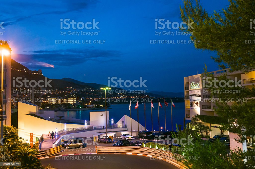 Early Evening-Monte Carlo stock photo