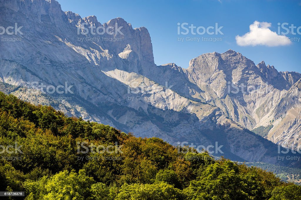 Early Fall in Faraut mountain peaks, Champsaur, Southern Alps, France stock photo