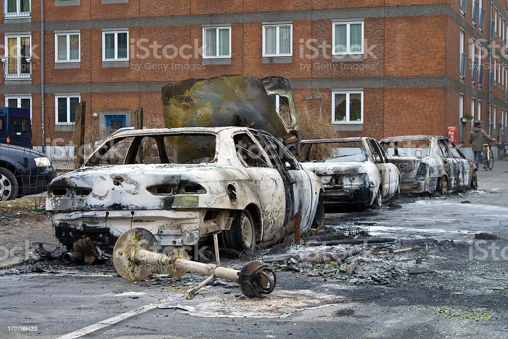 Early morning after the riots. royalty-free stock photo