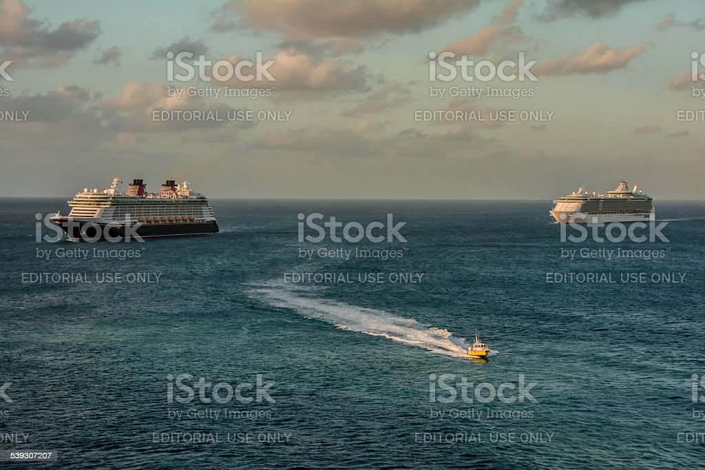 Early Morning Arrivals stock photo