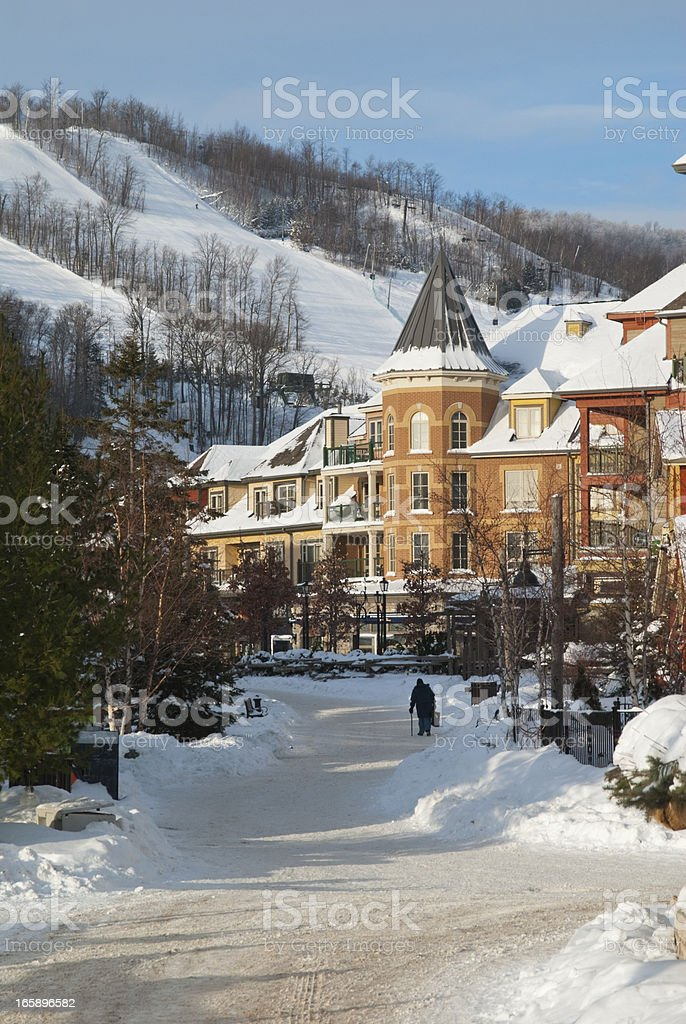 Early Morning At Blue Mountain Resort stock photo