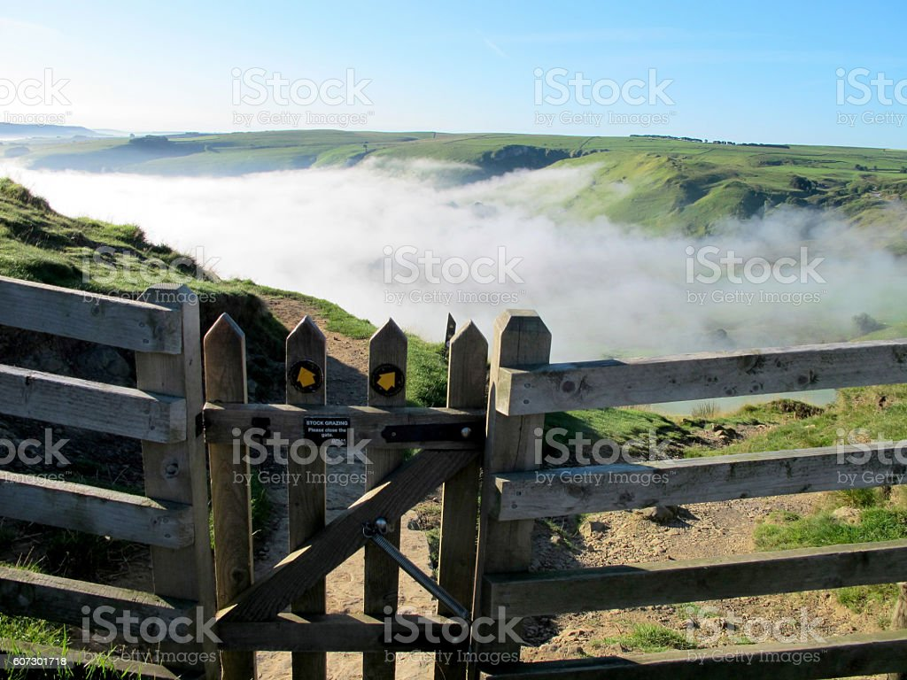 Early morning at Hollins Cross. stock photo
