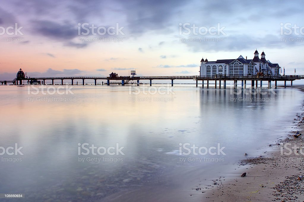 Early morning at the Baltic Sea, Germany stock photo