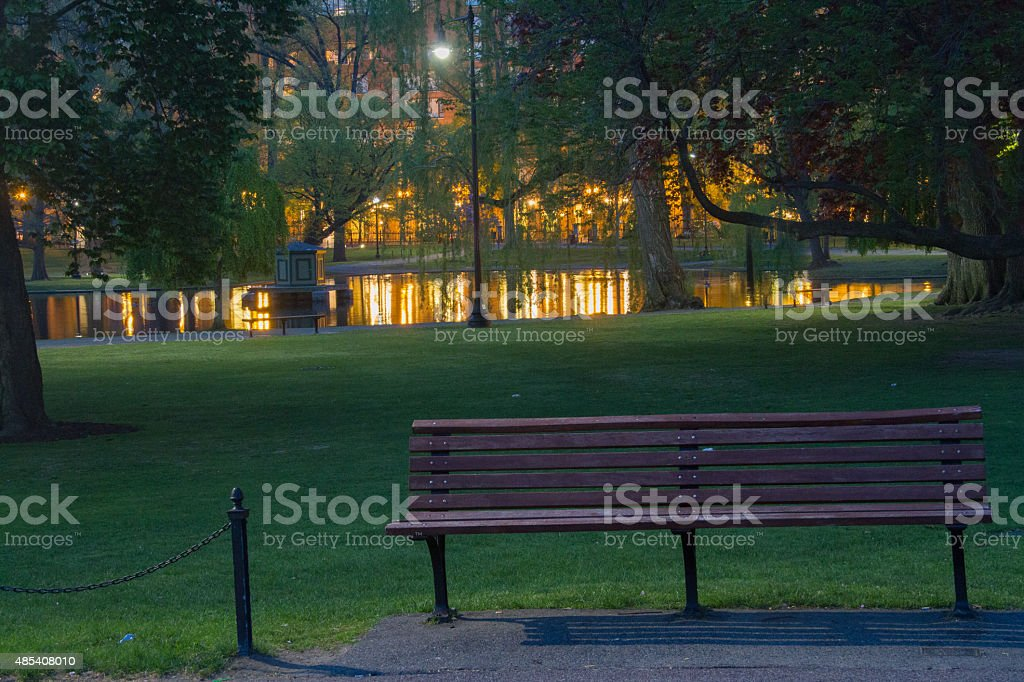 Early Morning at the Boston Gardens stock photo