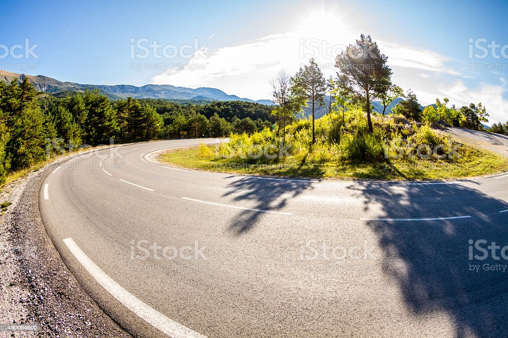 Early morning bends stock photo