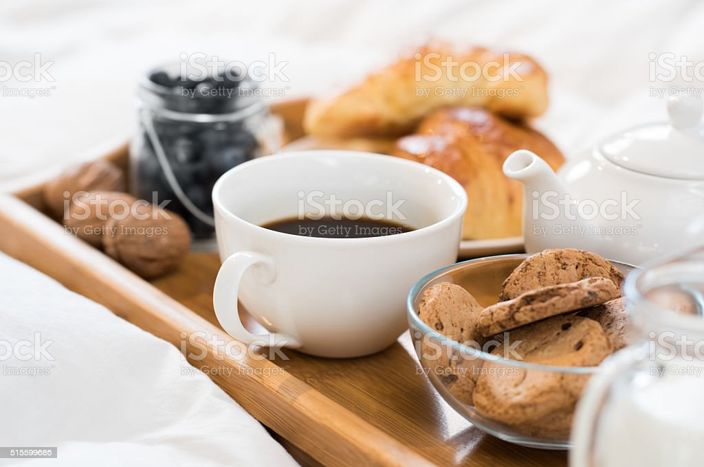 Early morning breakfast stock photo