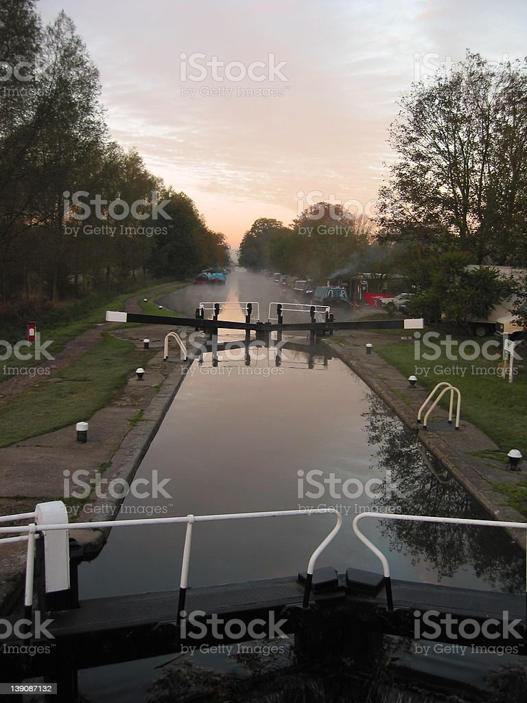 Early morning canal stock photo