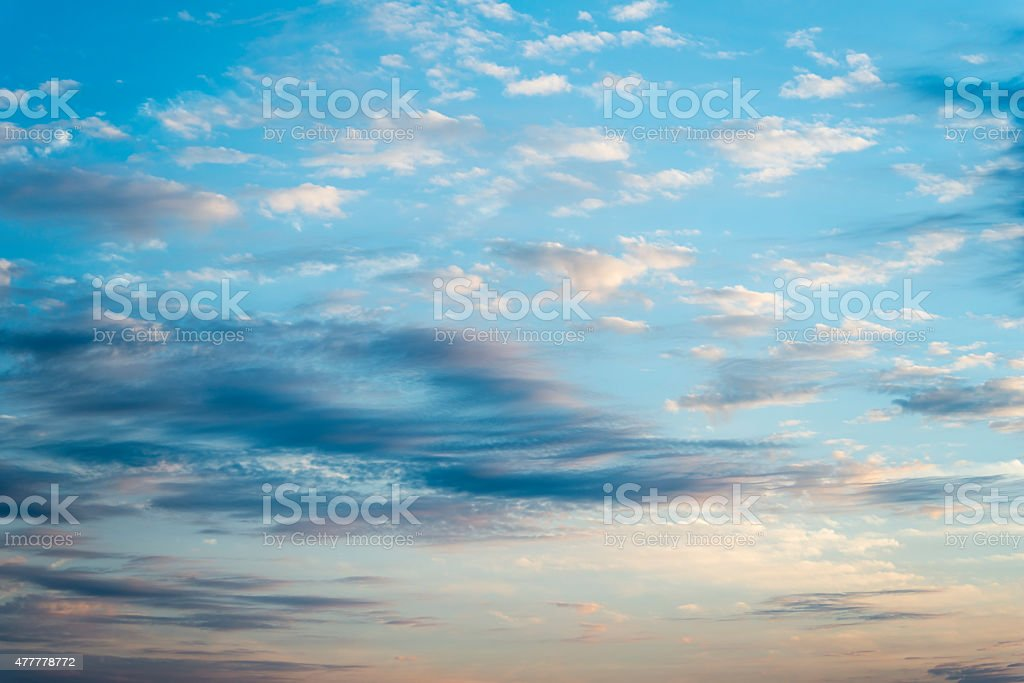 Early Morning Clouds stock photo