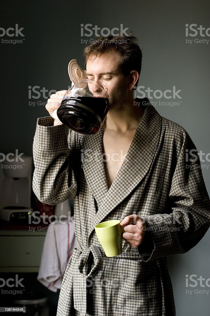 early morning cup stock photo