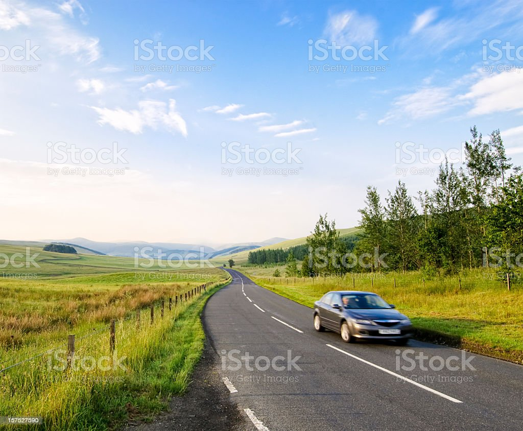 Early Morning Drive stock photo