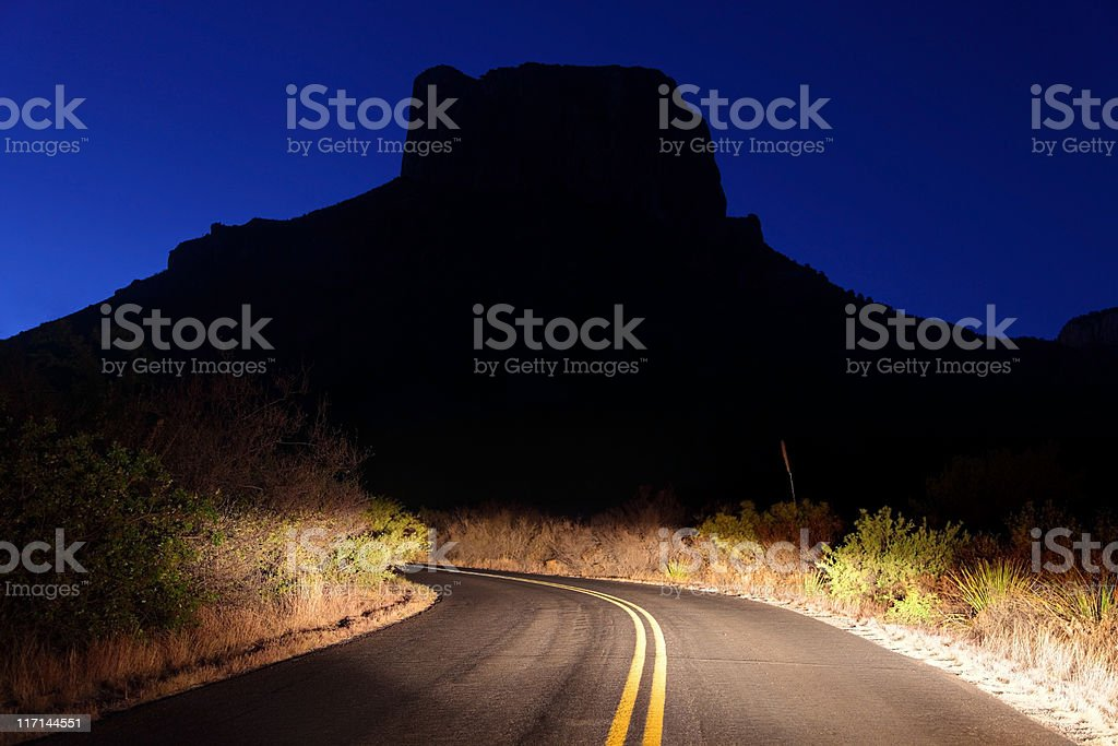 Early morning drive thru Big Bend stock photo