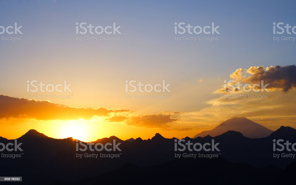 early morning Elbrus royalty-free stock photo