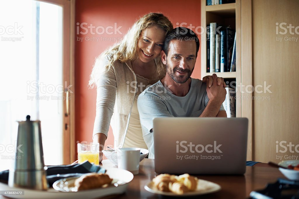 Early morning emails stock photo