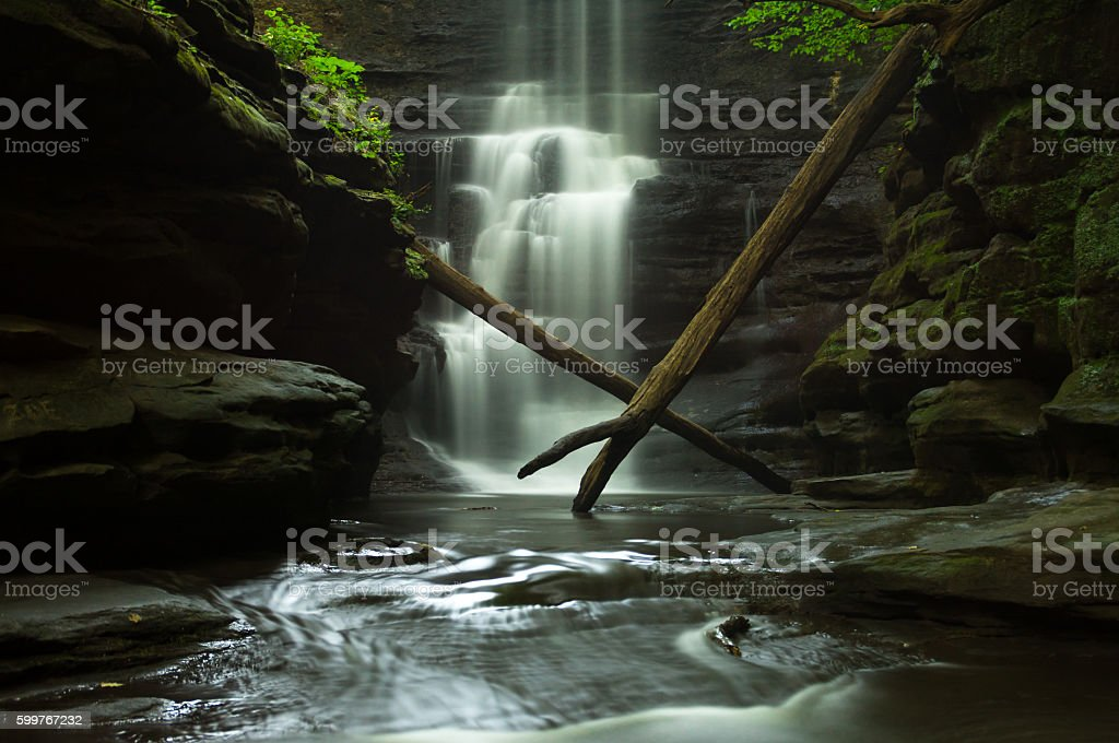 Early morning falls. stock photo