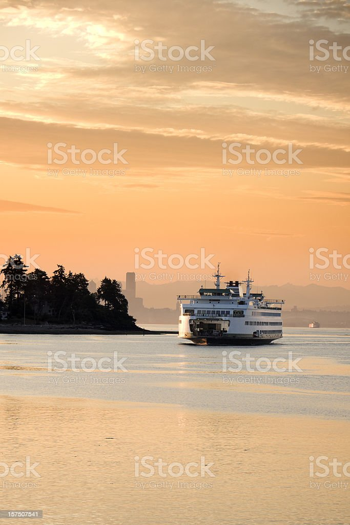 Early Morning Ferry stock photo