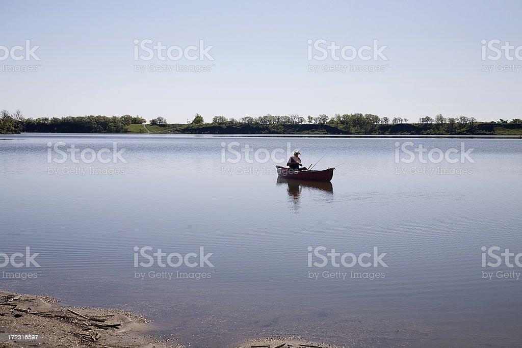 Early Morning Fisherman royalty-free stock photo