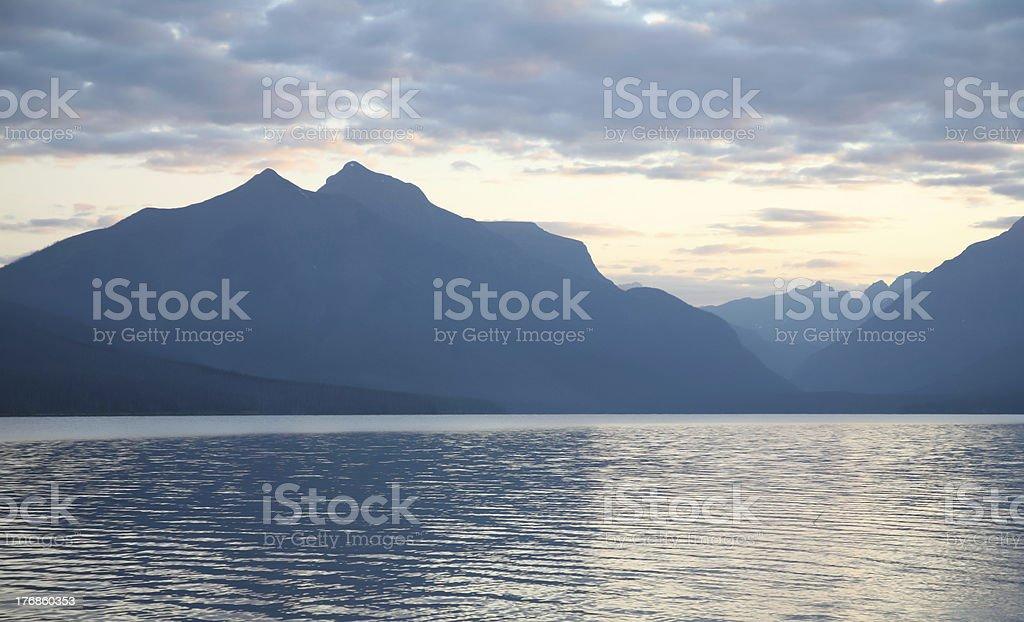 Early morning Glacier National Park royalty-free stock photo