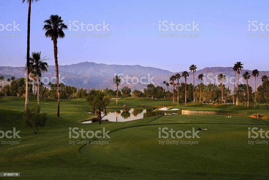 Early Morning Golf stock photo