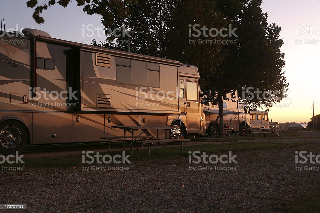 Early Morning in an RV Park royalty-free stock photo