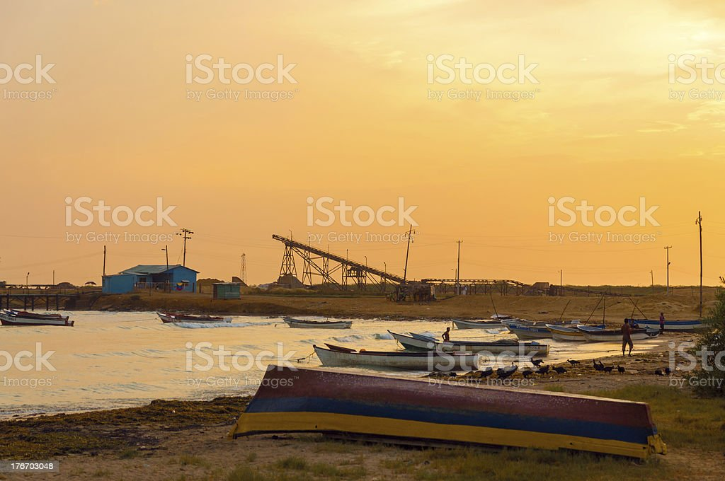 Early Morning in Manaure, Colombia stock photo