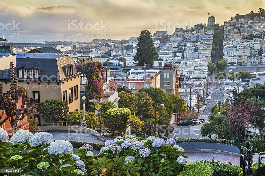 early morning in San Francisco stock photo