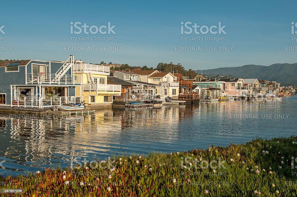 Early morning in Sausalito, California. stock photo