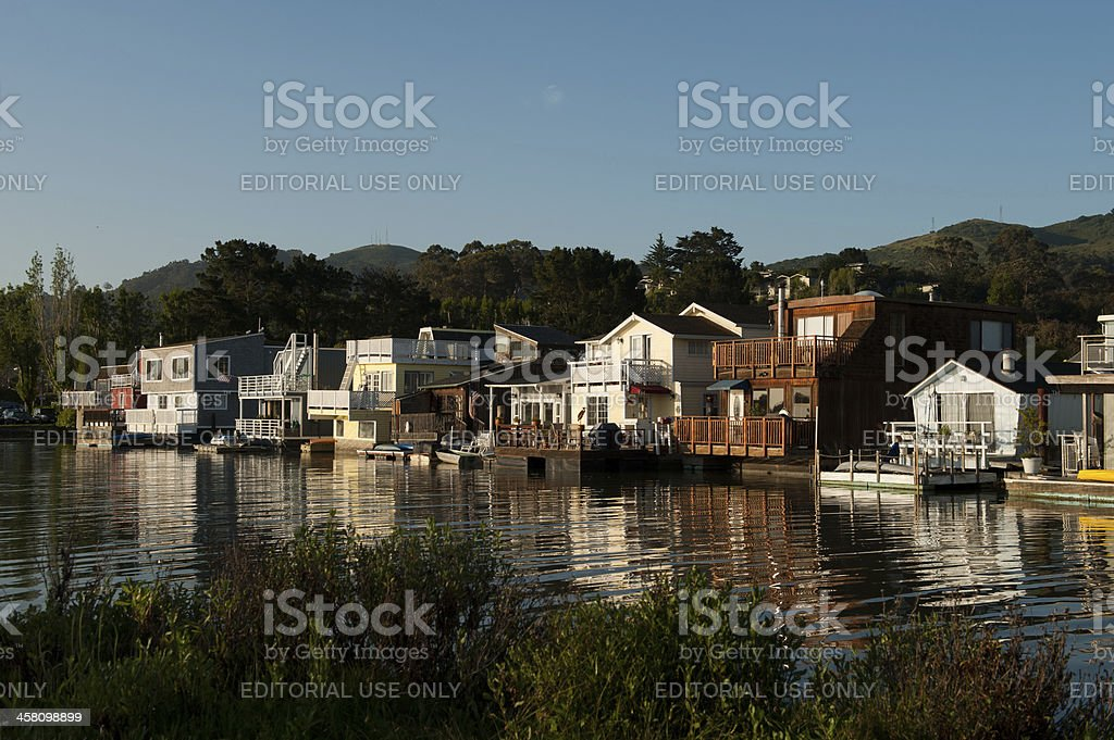 Early morning in Sausalito stock photo