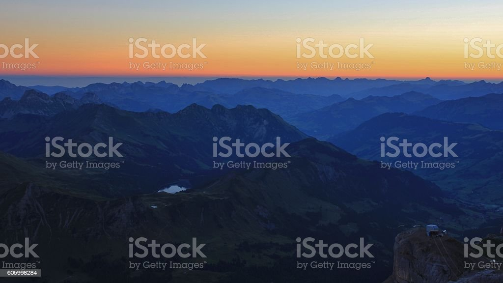Early morning in the Bernese Oberland stock photo