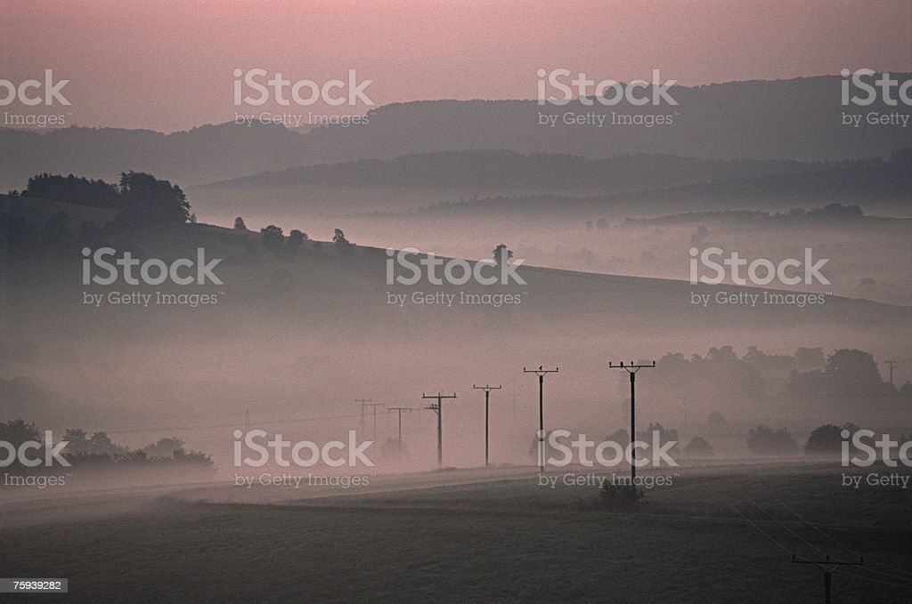 Early morning in the countryside royalty-free stock photo