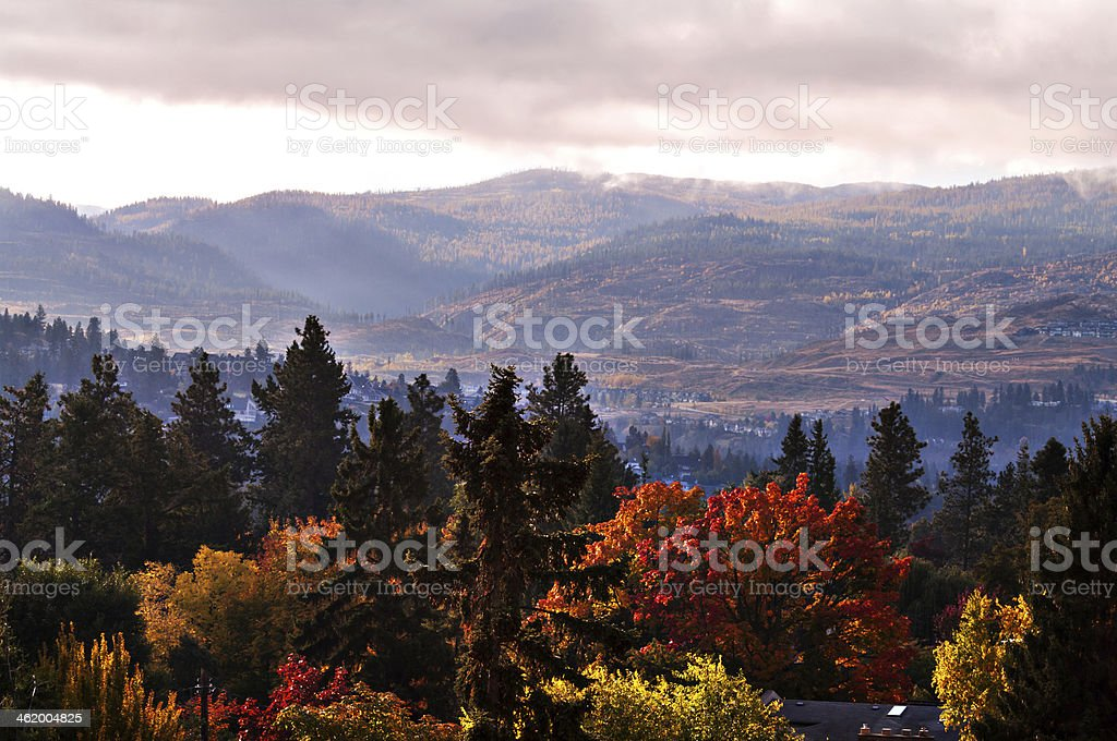 Early Morning in the Mountians stock photo